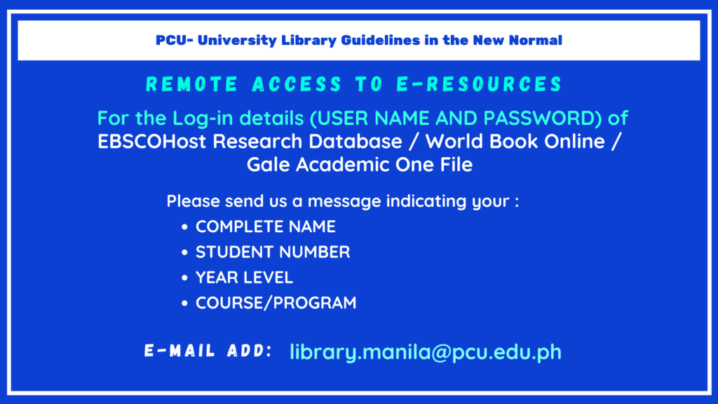 Library Guidelines in the New Normal (3)